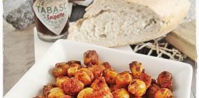Garbanzos tostados (roasted chickpeas)
